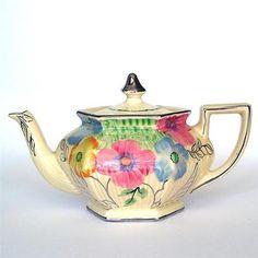Marvellous Art Deco Period 1930s Arthur Wood Hand Painted Teapot