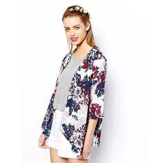 Miss Europe 2016 New Fashion Simple Printed Cardigan Jacket Kimono Jacket womens  summer clothes Cotton flower jacket