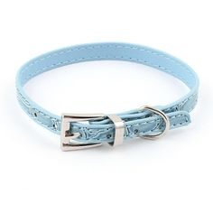 Uxcell Alligator Pattern Single Pin Buckle Dog Cat Collar Belt, 23-28cm, Blue -- You can get more details here : Cat Collar, Harness and Leash