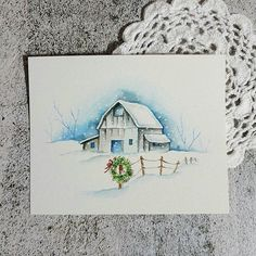 Friend Cards, Cards For Friends, Watercolor Projects, Drawing Projects, Watercolor Christmas Cards, Watercolor Cards, Christmas Paintings, Christmas Art, Christmas Illustration