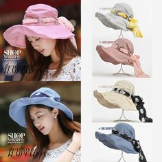 0364b416 Cotton Blend Wide Brim for Women | eBay. Wide-brim HatSun HatsBucket ...