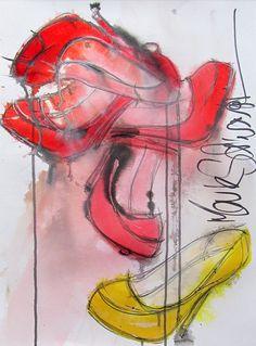 #shoes,#art,#highheels,#www.highheeledart.com  Mark Schwartz - paintings of shoes