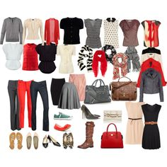 Mix and Match Wardrobe - i heart red.