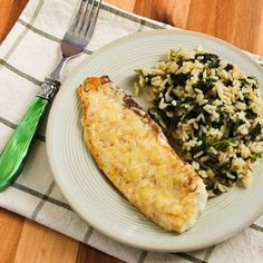 Recipe for Sauteed Tilapia with Parmesan Crust [from Kalyn's Kitchen] #GlutenFree  #SouthBeachDiet