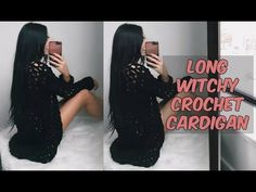 DIY LONG DETAILED CROCHET CARDIGAN - YouTube