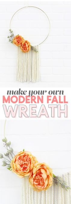 love no traditional wreaths! Great modern fall wreath