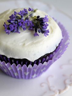 lavender cupcake? its blue from the inside too!