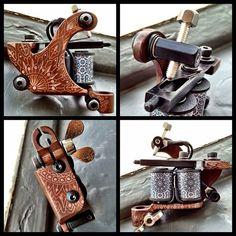 Custom built machine - Xam TheSpaniard Sick Tattoo, Tattoo Equipment, Tattoo Machine, Tattoo Studio, Gun, Tattoos, Accessories, Tattoo, Tatuajes