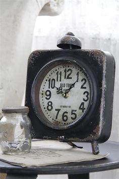 Pöytäkello, musta, x 9 x 24 cm - Sisustus Fanny Verkkokauppa Old Clocks, Antique Clocks, Vintage Clocks, Alarm Clocks, Mantel Clocks, Tick Tock Clock, Father Time, Time Stood Still, Grandfather Clock