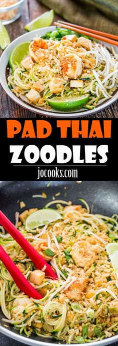 pad thai zoodles take your favorite pad thai recipe and make it healthier with oodles