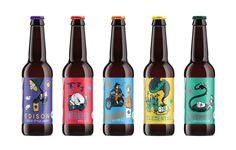 Electric Bear Brewing | Craft beer brand, label design