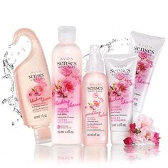 You'll feel flirty and feminine with the alluring fragrance of blushing cherry blossoms accented by dewy apples and sweet red berries.A $35 value, this collection includes:•Avon Senses Hydrating Shower Gel - 5 fl. oz. $6.00 value•Avon Senses Body Lotion - 8.4 fl. oz. $8.00 value•Avon Senses Sparkling Cherry Blossom Shimmer Mist - 6 fl. oz. $12.00 value• 2Avon Senses Hand Cream- 2.5 fl. oz. $4.50 value