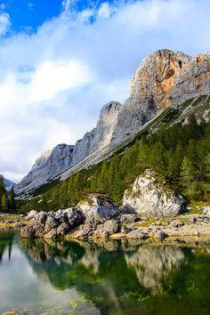 Dvojno jezero (Double Lake) in Triglav National Park, Slovenia (by gregakapun).