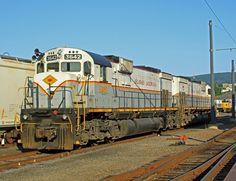Delaware Lackawanna Railroad, Alco C636 diesel-electric Locomotive in Scranton, Pennsylvania, USA
