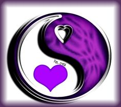 Ying Yang Sign, Positive And Negative, All Things Purple, Chinese Culture, Purple Amethyst, Yin Yang, Phone Wallpapers, Deep Purple, Mosaics