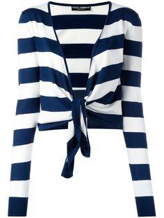 DOLCE & GABBANA striped tie cardigan. #dolcegabbana #cloth #cardigan