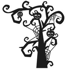 Daily Freebie 10-16-14: Miss Kate Cuttables--Spooky Tree SVG scrapbook title SVG cutting files halloween svg cut file halloween cute files for cricut cute cut files free svgs