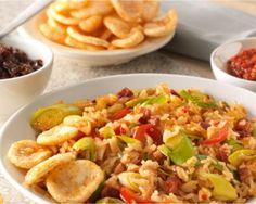 Pittige Nasi Goreng met prei en paprika