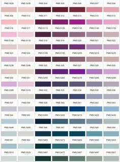 PANTONE Colour Chart   www.PANTONE-colours.com