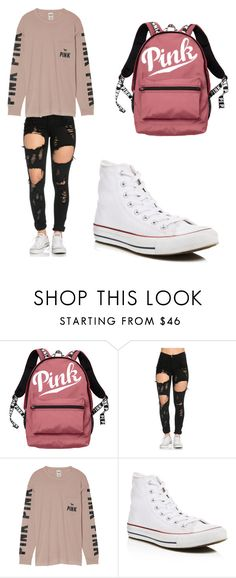 """Untitled #2"" by raneilyayoung on Polyvore featuring Victoria's Secret and Converse"