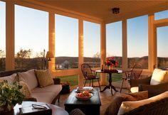 Screened Porch. John B. Murray Architect: