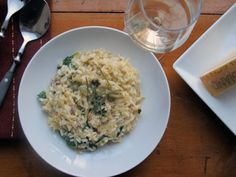 Parsnip Risotto with Spinach