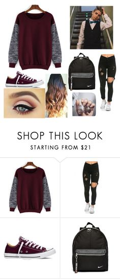 """""""Bruhitszach meet & greet"""" by sextingzach ❤ liked on Polyvore featuring beauty, Converse, NIKE and Floss Gloss"""