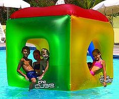 Be a cool square with The Cube Pool Float. Kids love to ride on this large floating box! Shop ToySplash for the most pool floats and inflatables! Swimming Pool Toys, Kiddie Pool, My Pool, Pool Fun, Inflatable Pool Toys, Pool Games, Pool Activities, Water Games, Pool Accessories