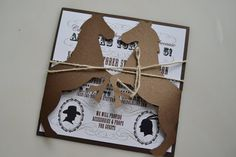 Western Ho Down Cowboy Indian Horse Pony Invites on Etsy, $3.00