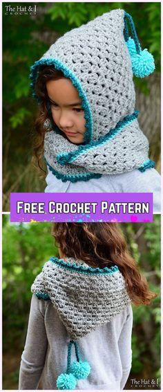 Crochet Granny Harlequin Hooded Cowl Free Pattern