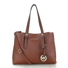 Welcome To Our Michael Kors Jet Set Travel Leather Medium Brown Totes Online Store
