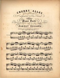Duke University Libraries- online printables; Hundreds of old sheet music selections which you can print on your printer.