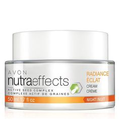 Tired looking skin? Avon nutraeffects Radiance Night Cream is just what you need to rescue a dull and uneven skin tone. #skincare