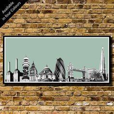 london skyline collage art print by bronagh kennedy - limited edition prints | notonthehighstreet.com