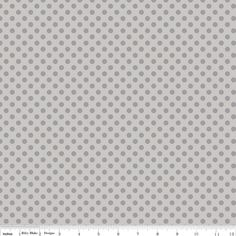 Riley Blake Light Gray w/Gray Dots 572 by DivinesSewingNook1