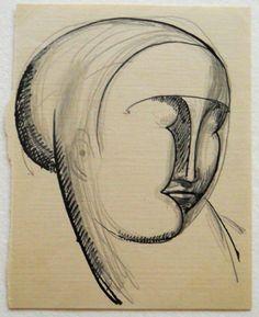 Elie Nadelman  Ideal Female Head, ca. 1914 - 1915