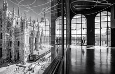 The Piazza Duomo from the Arengario Balconi of the Palazzo dell'Arengario Museo del 900 in Milan Italy by Italo Rota and Fabio Fornasari. Image © Marco Tagliarino- - Shortlist for the 2018 Architectural Photography Awards Revealed Photography Awards, Photography Projects, Urban Photography, Stunning Photography, Auer Weber, Photo D'architecture, Photo Class, World Architecture Festival, Architectural Engineering