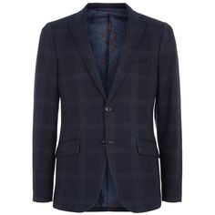 Etro Macrocheck Wool Blend Blazer ($1,315) ❤ liked on Polyvore featuring mens, men's clothing and sportcoats