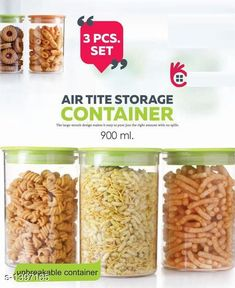 Jars & Container Air Tight Container Set (Set of 3)  *Material* Rubber & Plastic  *Description* It Has Set of 3 Air Tight Storage Container Set  *Sizes Available* Free Size *   Catalog Rating: ★4 (289)  Catalog Name: Useful Assorted Home & Kitchen Utilities Vol 17 CatalogID_180846 C130-SC1639 Code: 824-1397165-