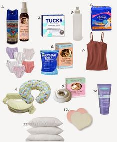 Postpartum Recovery Essentials           1.  Dermoplast - (I got this at the hospital) or  New M...