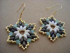 Twinkle twinkle...Superduo and seed bead by thiosart on Etsy.