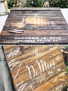 guest book ideas @weddingchicks