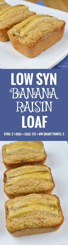 Slimming World Low Syn Mini Banana Raisin Loaf - gluten free, vegetarian, Slimming World and Weight Watchers friendly