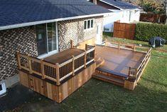 Patio Deck-Art Design® – contemporary – patio – montreal – Patio Deck-Art Designs - ALL ABOUT Backyard Patio Designs, Pergola Patio, Patio Ideas, Outdoor Deck Decorating, Contemporary Patio, Building A Porch, House With Porch, Decks And Porches, Cottage