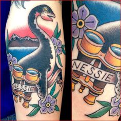 deandenney:  Loch Ness Monster on Courtney.  Thanks again, can't wait to start that Bigfoot tattoo next time.  I love this