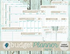 Great collection of printables to get your budget organized! Easy to use pages that work great if you are using cash envelopes/Dave Ramsey's FPU