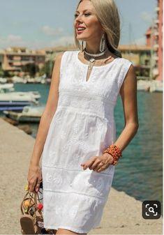 Mode Tutorial and Ideas Boho Outfits, Summer Outfits, Casual Outfits, Summer Dresses, Simple Dresses, Casual Dresses, Fashion Dresses, Fashion Clothes, Linen Dresses