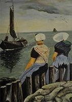 OosterscheldeMuseum Havens Postcard, Art, Painting