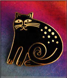 Keshire Cat - Laurel Burch Brooch/Pin from 1986 from gypsyjewels on Ruby Lane