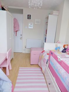 Toddler bedroom complete. Bright colourful mixed patterned space!